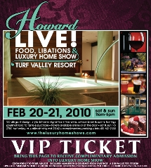 Howard Live Home Show Ticket
