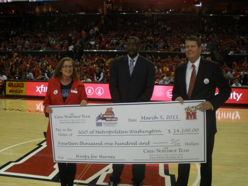 Hoops for Heros Check Presentation